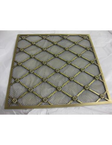 GRIGLIA con rete e rosette in ferro